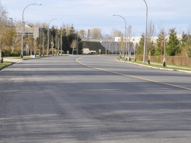 One of the municipal paving projects in Burnaby, BC